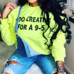 Creative Highlighted Pullover sweatshirt